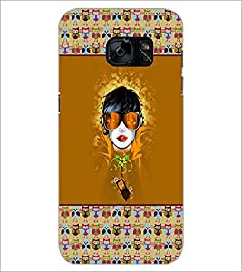 PrintDhaba Cartoon D-3171 Back Case Cover for SAMSUNG GALAXY S7 (Multi-Coloured)