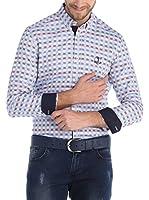 SIR RAYMOND TAILOR Camisa Hombre (Azul Claro / Púrpura)