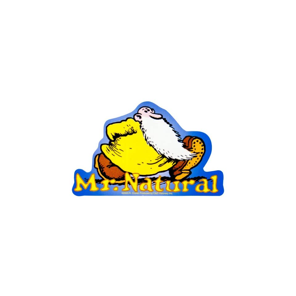 R crumb mr natural decal