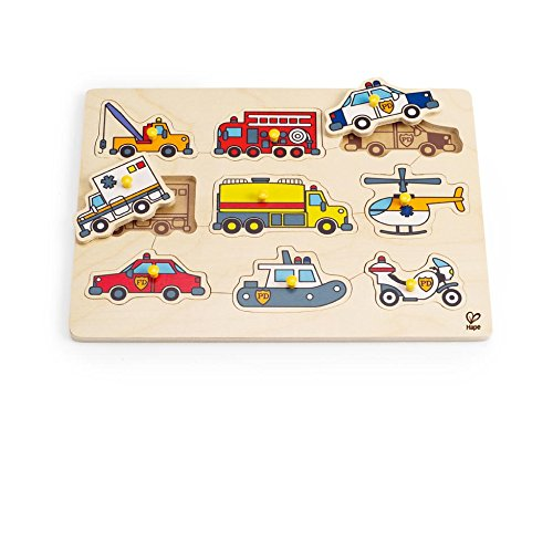 Hape - Emergency Vehicles Peg Puzzle