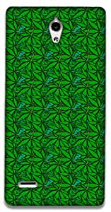The Racoon Grip Green Field hard plastic printed back case / cover for Huawei Ascend G700