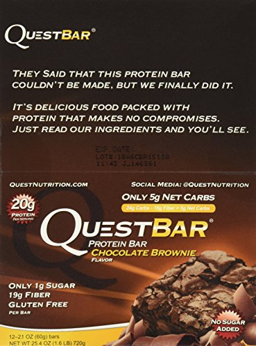 Quest Bar Chocolate Brownie -2.12 Oz. BARS , Box of 12 - 2 Pack (Quest Nutrition Chocolate Brownie compare prices)
