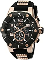 Invicta 17201 51.5mm Stainless Steel Case Black Polyurethane flame fusion Men's Watch