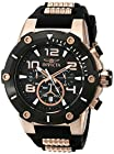 Invicta Men's 17201 Speedway Black and 18k Rose Gold Ion-Plated Stainless Steel Watch