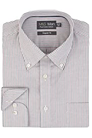 Pure Cotton Easy to Iron Twin Striped Oxford Shirt [T11-7239C-S]