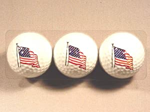 U.s. Flag 3 Golf Ball Set from MAFCO