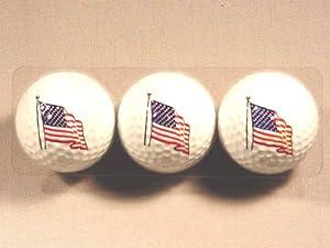 U.s. Flag 3 Golf Ball Set from MAFCO