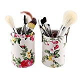 Unimeix® 12 Pcs Makeup Brush Set Cosmetic Kabuki Brushes Tool Kit with Flower Leather Cup Holder