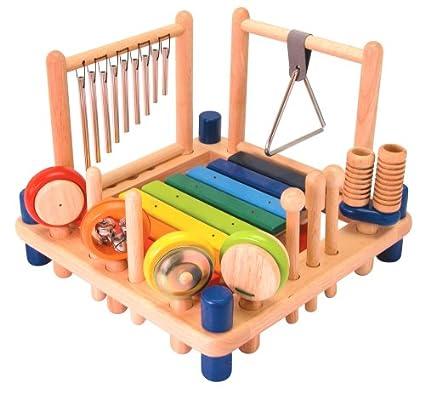 I'm Toy 22050 Xylophone Melody Mix - Set de percusión para niños: xilófono, tambor, triángulo, maracas, etc.