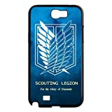 Goshoppinggo Samsung Note2 N7100 Best Durable Case The Hot Japanese Anime Attack on Titan Wings Of Liberty Flag