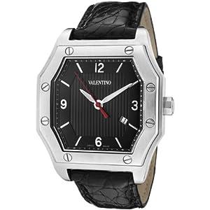 Valentino Prestige Stainless Steel Mens Swiss Strap Watch Black dial Date V39LBQ9909-S009