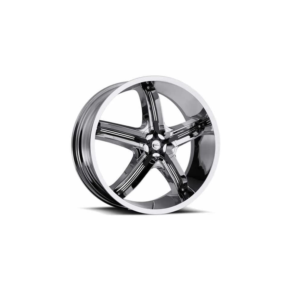 Milanni Bel Air 5 (459 Series) Chrome Wheel with Black Accents (17x7/5x100mm)