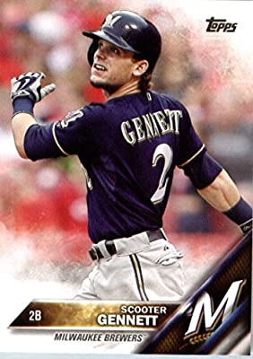 2016 Topps #225 Scooter Gennett Milwaukee Brewers Baseball Card