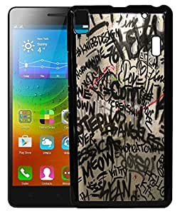 FCS Printed 2D Designer Hard Back Case For Lenovo A7000 With Universal Mobile Stand