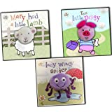 Little Learners Finger Puppet Books 4 Books Collection Pack Set RRP: £15.96 (The Dog I Love Best, , This Little Piggy, Mary Had a Little Lamb, Five Little Monkeys) Little Learners
