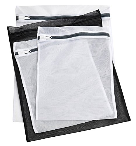 Laundry Lingerie Bags - 4 PACK - Durable Multi-Size Washing Bags for Underwear, Bras, Stockings, Lingerie or Baby Items. Protect Your Delicates from Getting Entwined with the Rest of Your Laundry. (Washer Lingerie Bag compare prices)