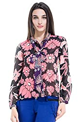 Kazo Women's Bow Front Shirt (107438MULTICM)