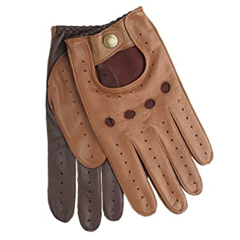 Dents Leather Driving Gloves - Cognac/Tan - Size 7.5 to 8 (7.5 to 8 inches (Small))
