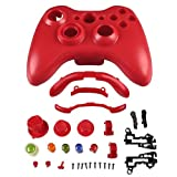 eForCity Shell Compatible with Microsoft Xbox 360 Wireless Controller , Red