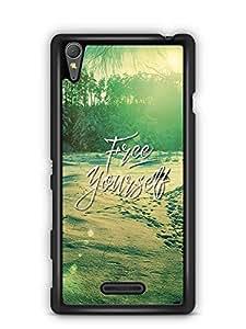 YuBingo Free Yourself Designer Mobile Case Back Cover for Sony Xperia T3