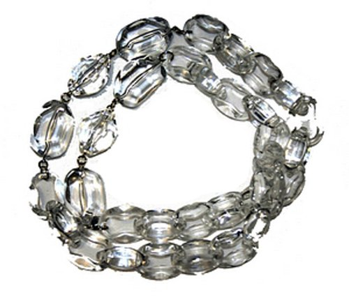 Clear Link and Bead Necklace 86cm