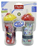Playtex Insulated Twist 'n Click Straw Cup 9 oz - 2 Pack (Colors Vary)