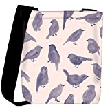 Snoogg Pigeon paint Womens Carry Around Cross Body Tote Handbag Sling Bags