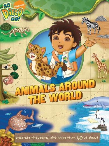 ANIMALS AROUND WORLD GO, DIEGO, GO By Irene Kilpatrick BRAND NEW  - $24.75