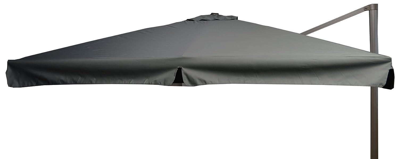 beo Sonnenschirme wasserabweisend ohne Standfuß Sonnenschutz, eckig, 3 x 3 m, grau