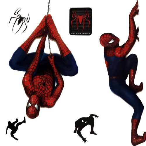 New Marvel Spiderman 2 Stickers Superhero Self-Stick Decals - (Type of Product:Home decor-Wall Decor) - New