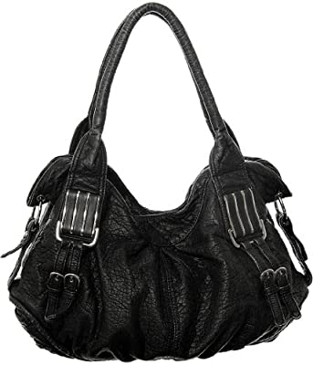 Black L&S ''Arango'' Hobo Purses