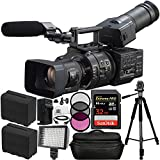 Sony NEX-FS700R Super 35 Camcorder with 18-200mm f/3.5-6.3 PZ OSS Lens 14PC Accessory Bundle. Includes Sandisk Extreme Pro 32GB Memory Card (SDSDXP-032G-A46) + 2 Replacement F970 Batteries + MORE