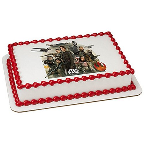 1/2 Sheet - Star Wars Rogue One Licensed Red Birthday - Edible Cake/Cupcake Party Topper!!!