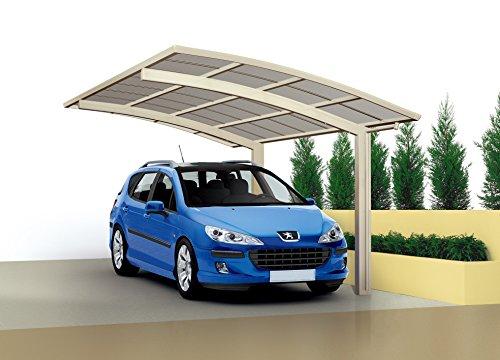 XIMAX-Aluminium-Design-Carport-Portoforte-Standard-Ausfhrung-inkl-Dachrinne-Regenfallrohr-4950x2700-mm