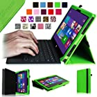[Corner Protection] Fintie Premium Leather Case for Microsoft Surface Pro / Surface Pro 2 Windows 8 Tablet 10.6 Inch (Does not Fit Windows RT Version) , Green