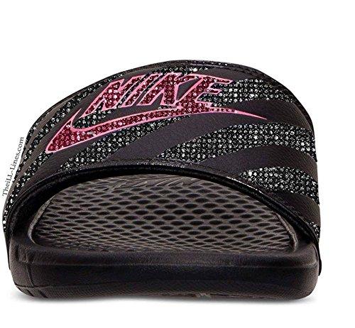 Nike Benassi JDI women's slide sandals (Nike Slides Orange And Black compare prices)