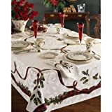 Lenox Holiday Nouveau 60-by-104-Inch Tablecloth