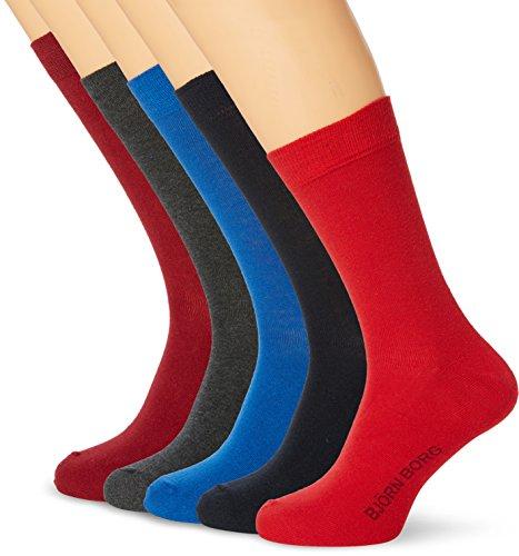 bjorn-borg-mens-seasonal-solids-pack-of-5-ankle-socks-multicoloured-winetasting-one-size-manufacture