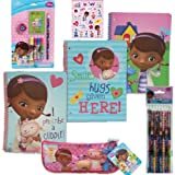 Disney Jr. Doc McStuffins School Value Pack Gift Set - 6 Piece Doc McStuffins School Supply Set For Kids with 3 Spiral 3-Hole Punch Binders (in 3 Fun Designs), 1 7-Piece Stationary Set, 1 6-Pack of Pencils, 1 Pencil Case PLUS Bonus Pack of 5 Doc Mstuffins & Friends Stickers