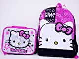 Sanrio Hello Kitty Large Backpack School Bag and Insulated Lunchbox Lunch tote Bag 2 Pieces Set