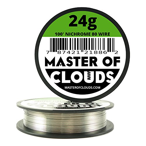 Nichrome 80 - 100 ft 24 Gauge AWG Resistance Wire 0.51mm 24g 100' (Master Gauge compare prices)