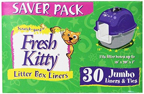 Fresh Kitty Litter Box Liners, Jumbo with Ties (Pack of 30) (Fresh Kitty Litter Box Liners compare prices)