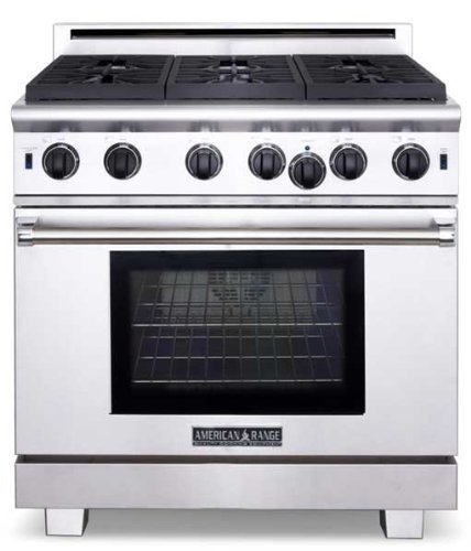 American-Range-ARR636L-Cuisine-Series-36-Sealed-Burner-All-Gas-Range-Stainless-Steel