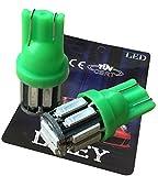 (ライミー)LIMEY 最新!5W級 爆光 T10 LED バルブ10連×2SMD 20チップ搭載 SMD7020 緑 グリーン 2個入り 【取扱説明書&保証書付き】 L-T10G7020C2