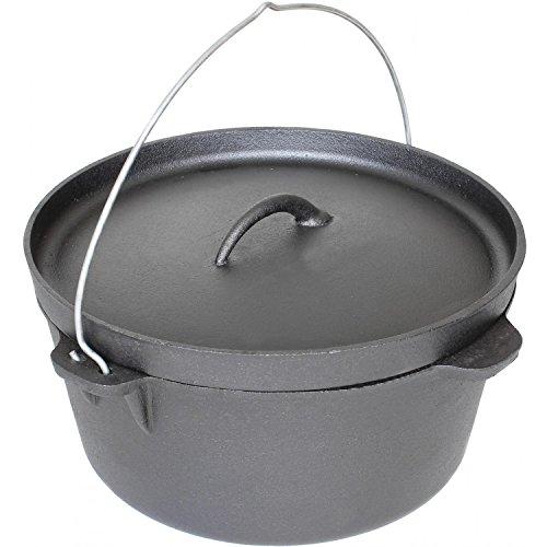 Cajun Cookware Pots Without Legs 16 Quart Seasoned Cast Iron Camp Pot (16 Qt Cast Iron Pot compare prices)