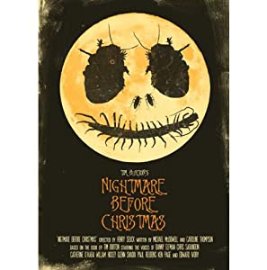 Tim Burton's Nightmare Before Christmas - Mounted Alternative Movie Poster