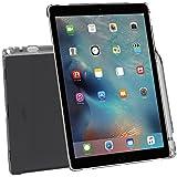 iPad Pro ケース Poetic -[Clarity Series]- アップル 12.9型 アイパッド プロ 対応 [ウルトラスリム] [TPU製 ケース] Smart Keyboard 対応 Apple Pencil 収納スロット付き クリアグレー