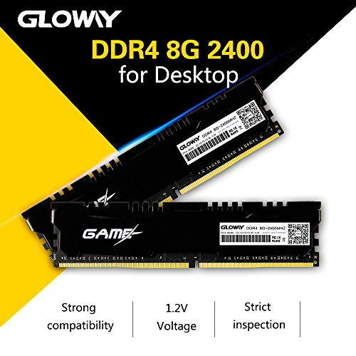 8GB DDR4,Gloway 2400MHz PC4 19200 CL16 1 2V Memory Ram for