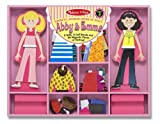 Melissa and Doug Abby and Emma Deluxe Magnetic Dress-Up Set
