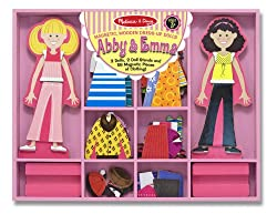Melissa & Doug Abby & Emma Deluxe Magnetic Dress-Up